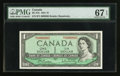 Canadian Currency: , BC-37b $1 1954 Serial Number Five. ...