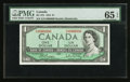 Canadian Currency: , BC-37b $1 1954 Fancy Serial Number. ...