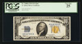 Small Size:World War II Emergency Notes, Fr. 2308 $10 1934 Mule North Africa Silver Certificate. PCGS VeryFine 25.. ...