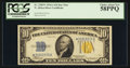 Small Size:World War II Emergency Notes, Fr. 2309* $10 1934A North Africa Silver Certificate. PCGS Choice About New 58PPQ.. ...