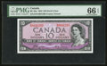 Canadian Currency: , BC-32a $10 1954 Devil's Face. ...