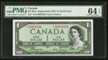 Canadian Currency: , BC-29aA $1 1954 Devil's Face Replacement Note *A/A Prefix . ...