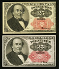 Fractional Currency:Fifth Issue, Fr. 1308 25¢ Fifth Issue VF-XF. Fr. 1309 25¢ Fifth Issue ChoiceNew.. ... (Total: 2 notes)
