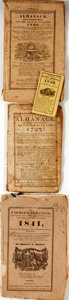 Books:Americana & American History, [Almanac] Lot of Four American Almanacs 1793-1841. All examples inthe standard pamphlet form with printed wrappers and stri...(Total: 4 Items)