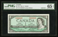 Canadian Currency: , BC-37d $1 1954 Solid Two Serial Number. ...