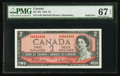 Canadian Currency: , BC-38b $2 1954 Solid Four Serial Number. ...