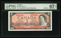 Canadian Currency: , BC-38b $2 1954 Solid Five Serial Number. ...