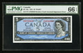 Canadian Currency: , BC-39a $5 1954 Inverted Signatures Error. ...