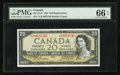 Canadian Currency: , BC-41aA $20 1954 Replacement Note with *A/E Prefix. ...