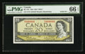 Canadian Currency: , BC-41b $20 1954 Solid Four Serial Number. ...