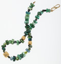 Estate Jewelry:Necklaces, Tourmaline, Emerald, Gold Necklace. ...