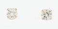 Estate Jewelry:Earrings, Diamond, Gold Stud Earrings. ...