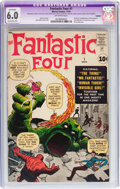 Silver Age (1956-1969):Superhero, Fantastic Four #1 (Marvel, 1961) CGC Apparent FN 6.0 Extensive (A)Off-white pages....
