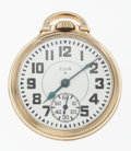 Timepieces:Pocket (post 1900), Elgin 23 Jewel B.W. Raymond Open Face Pocket Watch. ...