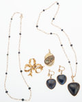 Estate Jewelry:Lots, Antique Sapphire, Gold Jewelry Lot. ... (Total: 5 Items)