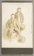 "Photography:Cabinet Photos, CABINET CARD OF ""NEZ PERCE"" INDIAN POLICE 1890-1900. This image has(2) Nez Perce Indians from the Oregon, Idaho area. The ... (Total:1 Item)"