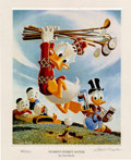 "Original Comic Art:Miscellaneous, ""Flubbity Dubbity Duffer"" by Carl Barks Lithograph Print #484/595(Another Rainbow,1999).... (Total: 2 Items)"