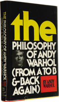 Books:Signed Editions, Andy Warhol: Signed First Edition of The Philosophy of Andy Warhol (From A to B & Back Again) (New York and London: Harc... (Total: 1 Item)