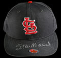 Autographs:Others, Stan Musial Signed St. Louis Cardinals Cap. The black St. Louis Cardinals baseball cap is signed by Stan Musial across the ...