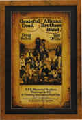 Music Memorabilia:Posters, Grateful Dead/Allman Brothers Band RFK Memorial Stadium ConcertPoster (Electric Factory, 1973). Saddle up for a splendid s...(Total: 1 Item)