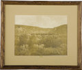 Photography:Cabinet Photos, ORIGINAL BARRY IMAGE OF THE 10TH ANNIVERSARY OF THE BATTLE OF THELITTLE BIGHORN WITH HOLOGRAPH NOTATIONS - Handsome sepia-t...(Total: 1 Item)