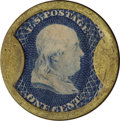 "Encased Postage: , 1¢ Lord & Taylor ""Romain"" Counterfeit...."