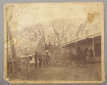 Photography:Cabinet Photos, J.H. CROCKWELL IMPERIAL CABINET OF PIONEER STAGE LINE COACH, 1888. Interesting large-format photograph of a very crowded Pio... (Total: 1 Item)
