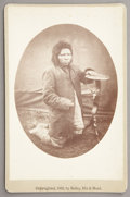 "Photography:Cabinet Photos, NEZ PERCE INDIAN, ""STEPS"" FORT RANDALL, DAKOTA TERRITORY 1882.Cabinet card of ""Steps"" who escaped from his band, while sur...(Total: 1 Item)"