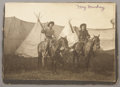 Photography:Official Photos, WILD WEST FEMALE PERFORMER MAY MACKEY 1890-1900. This photograph oftwo Wild West performers May Mackey and unidentified Wil... (Total:1 Item)