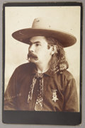 Photography:Cabinet Photos, 'OKALHOMA BILL' WILD WEST PERFORMER & CORNETIST 1890s
