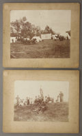 "Photography:Cabinet Photos, C.S.R. HAMILTON PHOTOGRAPHS - MA BELL CONQUERING THE WEST ca1890-1895. Two outstanding Imperial cabinets (8.75"" x 6.5"") of...(Total: 1 Item)"