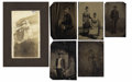 Photography:Tintypes, LOT OF SIX AFRICAN-AMERICAN IMAGES - 1/6TH PLATE TINTYPES - ca.1860-1900. A nice set of five African-American tintypes and o... (Total: 5 Items)