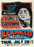 Music Memorabilia:Posters, James Brown N. Y. Apollo Autographed Concert Poster (1995). Incredible is the word for this eye-grabbing poster. Mr. Dynami... (Total: 1 Item)