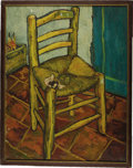 "Movie/TV Memorabilia:Props, Van Gogh's Chair Painting from ""Lust for Life."" Vincent Minnelli'smasterpiece Lust for Life almost didn't get made. MGM...(Total: 1 Item)"
