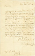 "Autographs:U.S. Presidents, George Washington Manuscript Letter Signed ""G:o Washington,""one page, 8"" x 13"". Head Quarters, February 26, 1780. This ..."