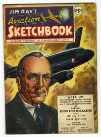 Jim Ray's Aviation Sketchbook #1 (Vital Publications, 1946) Condition: VF+
