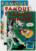 Golden Age (1938-1955):Miscellaneous, Famous Funnies Group (Eastern Color, 1941-54) Condition: Average VF-.... (Total: 17 Comic Books)