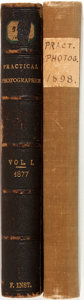 Books:Photography, [Photography]. Group of Two Volumes of Practical Photographer. 1877 and 1898. 1877 edition lacking a title page. Qua... (Total: 2 Items)