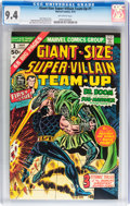 Bronze Age (1970-1979):Superhero, Giant-Size Super-Villain Team-Up #1 (Marvel, 1975) CGC NM 9.4 Off-white pages....
