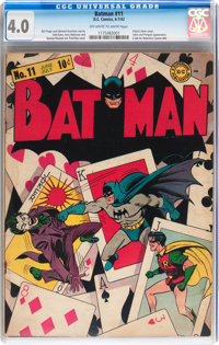 Batman #11 (DC, 1942) CGC VG 4.0 Off-white to white pages