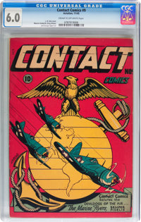 Contact Comics #9 (Aviation Press, 1945) CGC FN 6.0 Cream to off-white pages
