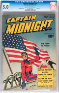 Golden Age (1938-1955):Superhero, Captain Midnight #10 (Fawcett Publications, 1943) CGC VG/FN 5.0 Cream to off-white pages....