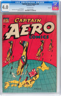 Golden Age (1938-1955):War, Captain Aero Comics #24 Big Apple pedigree (Holyoke Publications,1945) CGC VG 4.0 Off-white pages....