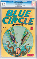 Golden Age (1938-1955):Miscellaneous, Blue Circle Comics #3 (Rewl, 1944) CGC GD 2.0 Cream to off-white pages....