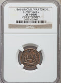 Civil War Patriotics, 1863 Army & Navy XF40 NGC, Fuld-16/300a; 1863 Wilson's MedalVF35 NGC, Fuld-112/396a; Undated Our Country XF40 NGC,Fuld-230/3... (Total: 3 tokens)