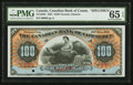 Canadian Currency: , Toronto, ON- The Canadian Bank of Commerce $100 Jan. 2, 1901 Ch. # 75-14-58S Specimen . ...