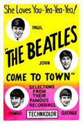 "Movie Posters:Documentary, The Beatles Come to Town (Pathé, 1963). One Sheet (28"" X 42"") Day-Glo Silk Screen Style.. ..."