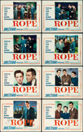 "Movie Posters:Hitchcock, Rope (Warner Brothers, 1948). Autographed Lobby Card Set of 8 (11""X 14"").. ... (Total: 8 Items)"
