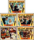 "Movie Posters:Musical, Carefree (RKO, 1938). Title Lobby Card and Lobby Cards (4) (11"" X14"").. ... (Total: 5 Items)"