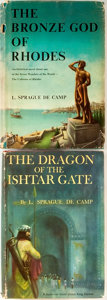 Books:Science Fiction & Fantasy, L. Sprague de Camp. Two First Editions. Includes: The Bronze God of Rhodes; The Dragon of the Ishtar Gate. Doubleday... (Total: 2 Items)